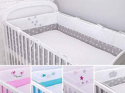 Bettumrandung Nestchen Kopfschutz 420x30, 360, 210, 180 Bettnestchen Baby Design ()