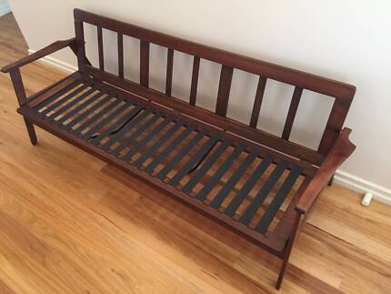 Vintage timber daybed/sofa in superb restored condition