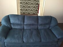 3 seater blue couch Butler Wanneroo Area Preview