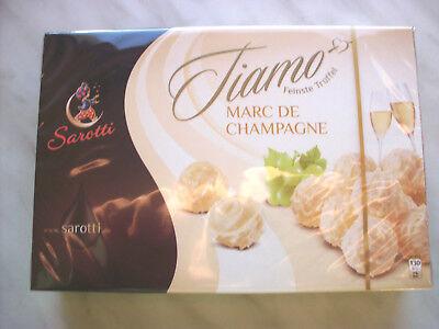 4 x 125gr Sarotti Marc de Champagne white chocolate truffles (Chocolate Champagne Truffles)