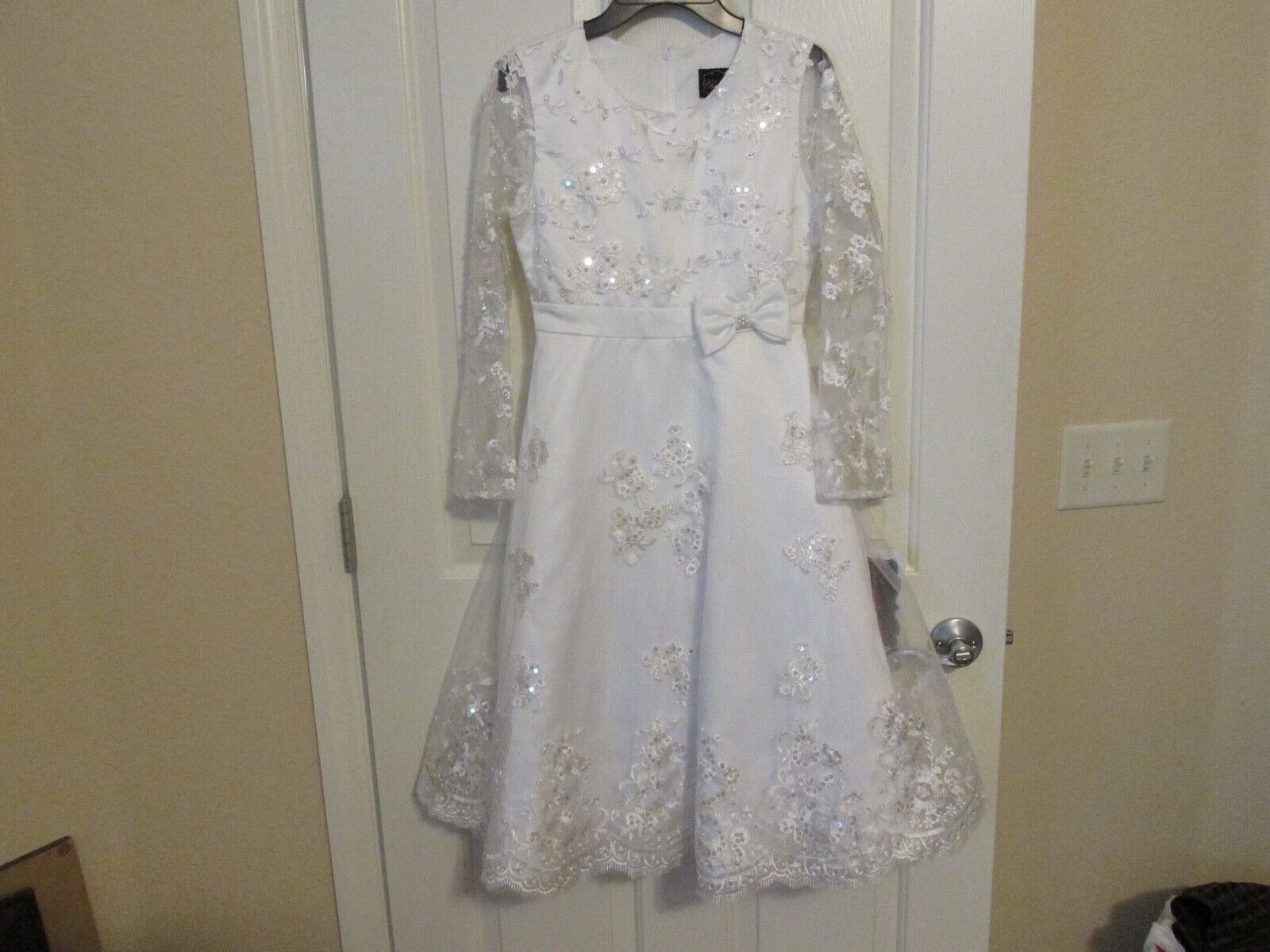 White CHANTILLY PLACE Formal Dress Flower Girl, Holiday, Gir