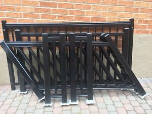 Quality Black Aluminum Railing Sections