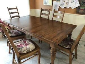 Solid Oak Table and Chair dining set