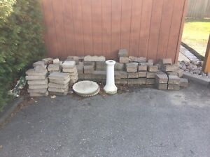Patio interlock stones - assorted