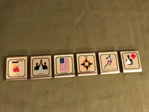 Vintage BSA Boy Scouts of America Official Achievement Belt Slide Loop Lot (6)