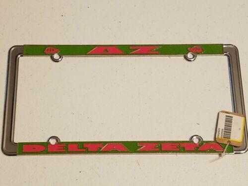DELTA ZETA Heavy Metal License Plate Frame