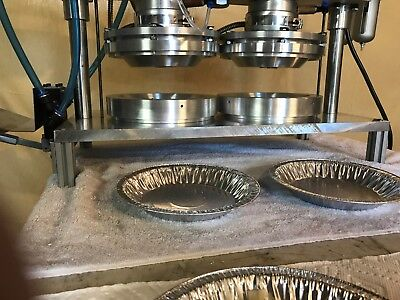 Brand New Inline Pie Press With 2 Two Forming Dies For 9 Pie Shells