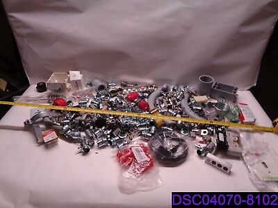Lot Of 204 Electrical Supplies Fittings Boxes Conduit Fuses And More