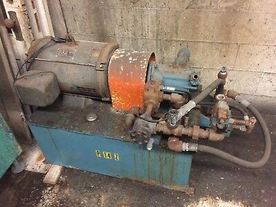 15hp Dayton Hydraulic Power Pumping Unit 40 Gal 230460v Vickers Pump Hydraulics