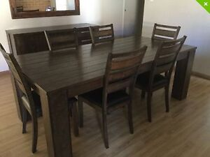 DINING TABLE & CHAIRS $1000 - BUFFET $500- Tv Cabinet -$500 Meadow Springs Mandurah Area Preview
