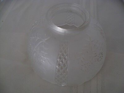 Lamp Shade - Frosted Glass with Relief Design