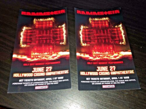 Rammstein -2 Promo Flyer/Handbills Chicago Show(6-27-17)Only Midwest Performance