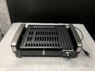 Hamilton Beach Stainless Steel Electric Searing Grill 25360 Indoor Missing Lid Stainless Lid Grates