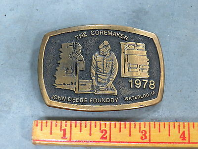John Deere Foundry Waterloo The COREMAKER BELT BUCKLE Employee ONLY RARE 1978