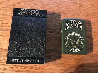 UNITED STATES ARMY ZIPPO LIGHTER   MINT