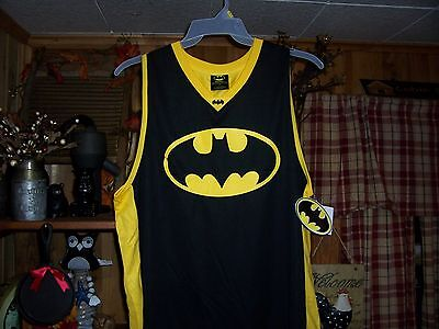 BATMAN MENS TANK TOP T SHIRT SIZE MEDIUM 38-40 MENS SUPER HERO CLOTHING SUMMER
