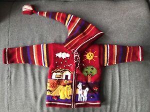 NEUF - Manteau péruvien pour enfant en laine - 2T