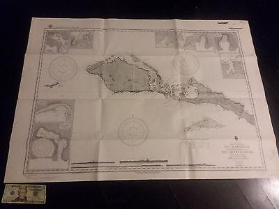 Antique Vintage  US Navy  Nautical Chart Aeronautical Map   Neu Hannover Pacific Navy Chart Map