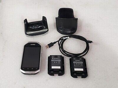 Zebra Symbol Motorola Mc40 Barcode Scanner W 2 Batteries Charging Cradle Cable