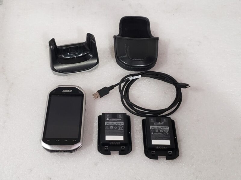 Zebra Symbol Motorola MC40 Barcode Scanner w/ 2 Batteries Charging Cradle Cable
