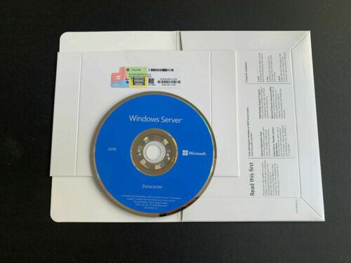 Windows Server 2019 Data Center Full Version DVD Disc | RDS 50 Device User CAL