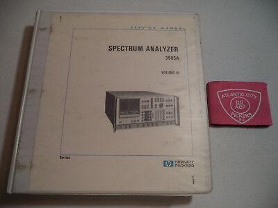 Hewlett Packard Spectrum Analyzer 3585a Service Manual Vol Iii 03585-90006