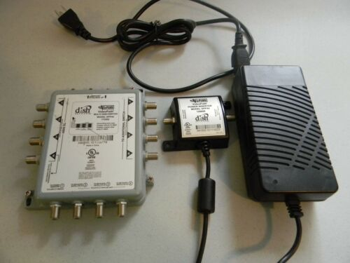 DISH NETWORK NET DPP44 DPP-44 MUTLI-DISH SWITCH DISH PRO PLUS w/ POWER INSERTER
