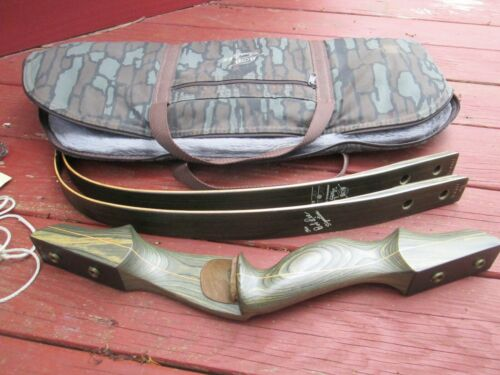 """Bob Lee Signature 3pc Takedown Recurve Bow 58inch  58lbs @ 28"""" right hand"""