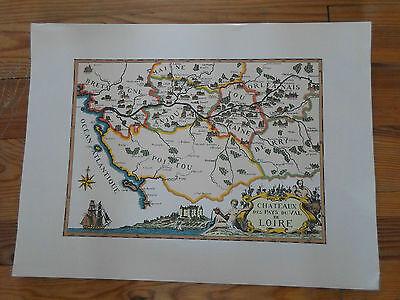 carte géographique - Daniel Derveaux - Châteaux des pays du val de loire