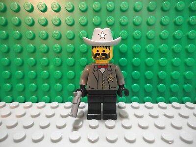 Lego Minifig ~ Flatfoot Thompson ~ Wild West Western Cowboy Outlaws//Bandits 6755