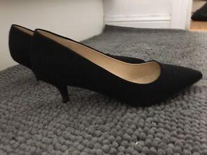 Black kitten heels comfortable pumps