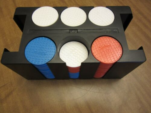Vintage Set of Titleist Golf Ball Poker Chips w/Tray Holder-180 Chips Markers