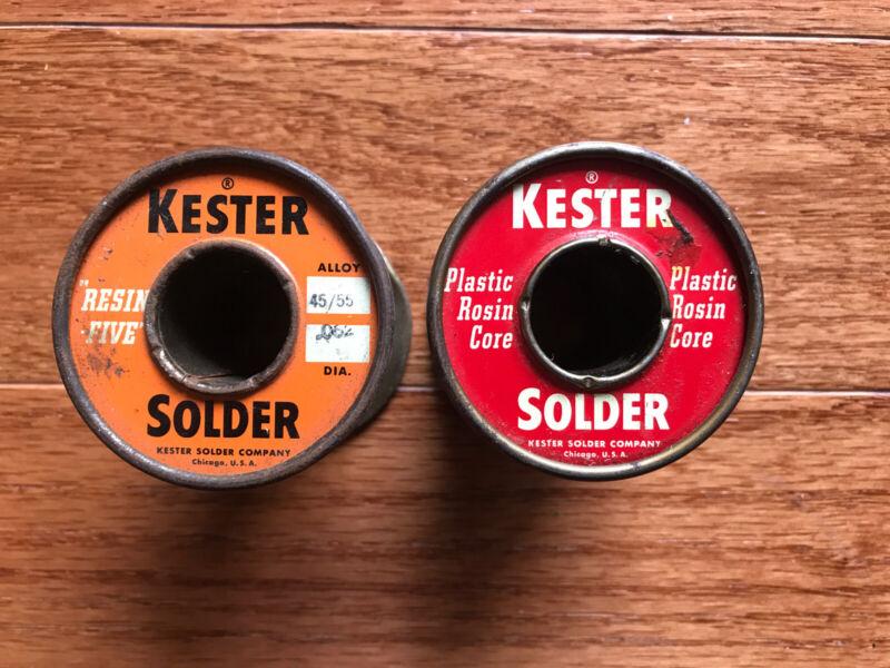 Vintage Kester Solder - Rosin Core & Plastic Rosin Core - Partial Rolls