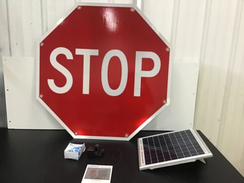 """36"""" TAPCO LED Stop Sign - Stop,White/Red- 2180-00208"""