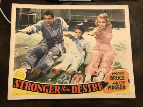 "Stronger Than Desire 1939 MGM 11x14"" lobby card Walter Pidgeon Virginia Bruce"