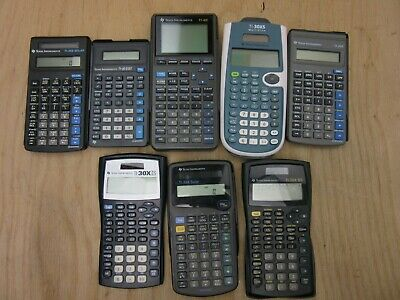 Lot of 8 Calculators Texas Instruments TI-82 TI-36x TI-30 TI-36X 30x Stat Solar