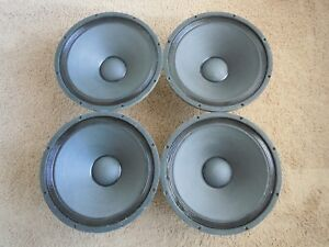 Vintage Altec Lansing 515 Woofer Quartet