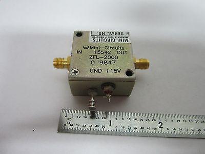 Mini Circuits Rf Amplifier Frequency Zfl-2000 Binb2-c-85