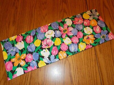 Spring Tulips Flowers MINI table runner Toilet Tank Topper handmade pink black](Spring Table Runners)