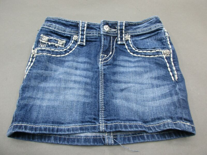 Miss Me Size 8 Girls Blue 98% Cotton Stretch Denim Skirt 157