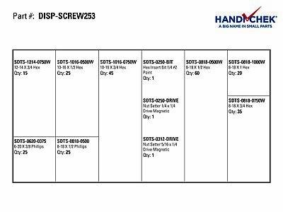 Self Drill Screw Assort 253pc