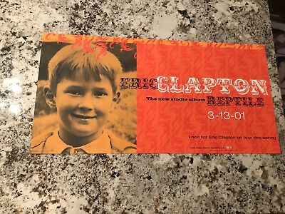 ERIC CLAPTON POSTER, REPTILE PROMO ONLY POSTER 12X24 NEW OLD STOCK