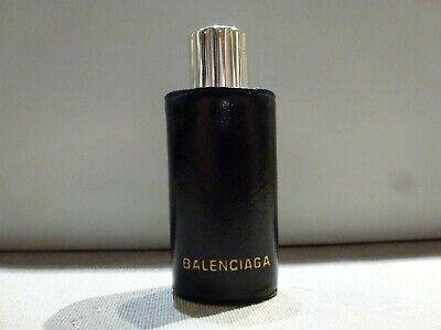 Rare flacon de sac ancien BALENCIAGA Quadrille Parfum 7,5 ml vide dans Etui cuir