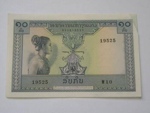 LAOS 10 KIP 1962