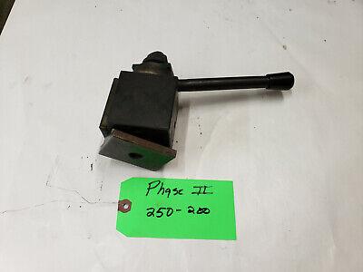 Phase Ii 250-200 10-15 Swing Quick Piston Type Change Tool Post.