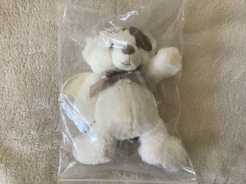 Demdaco Guardian Angel Plush Bear Kids Toy Brand New White with Silver Halo