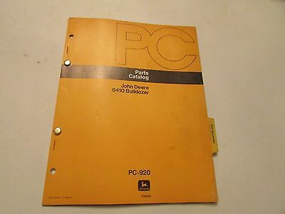 John Deere Pc-920 Bulldozer 6410 Parts Catalog Manual