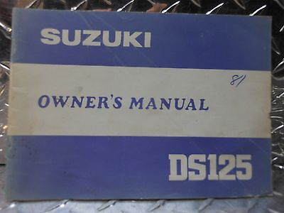 1981 Suzuki DS125 DS 125 Motorcycle Factory Owner's Manual P/N 99011-48222-03A