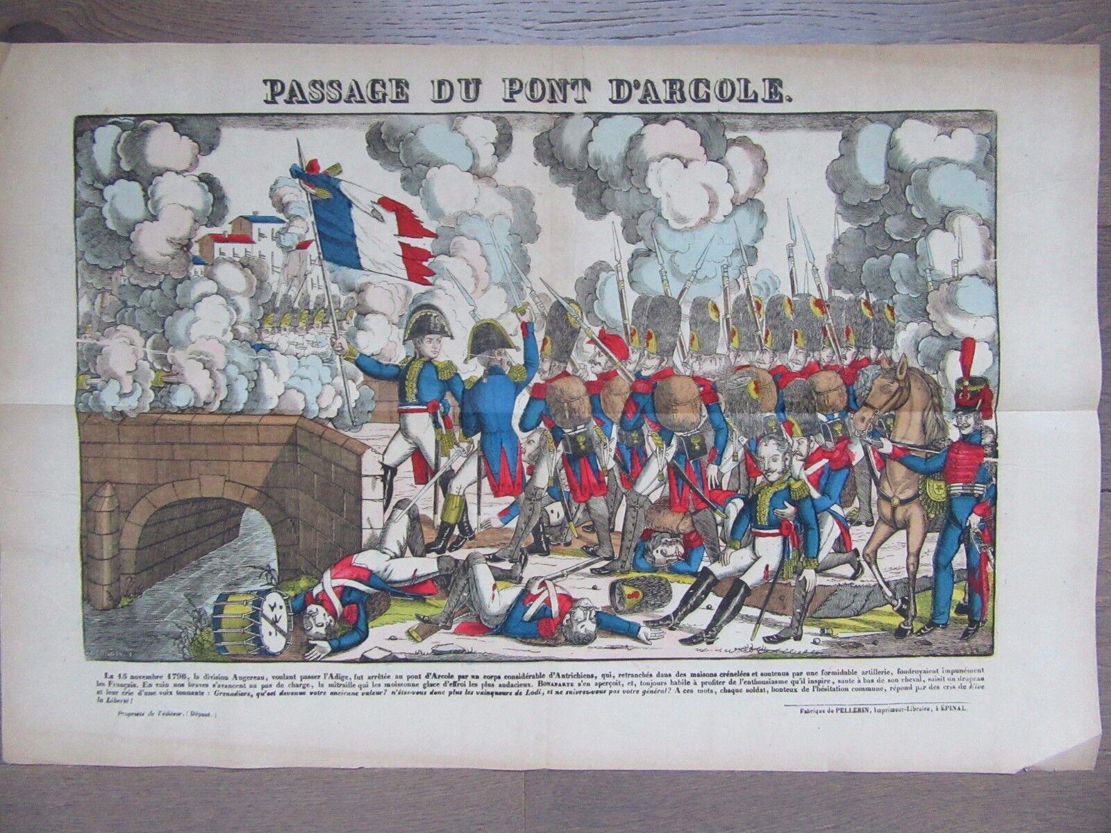 GRANDE IMAGE EPINAL 1880 NAPOLEON PASSAGE DU PONT D'ARCOLE NOVEMBRE 1796