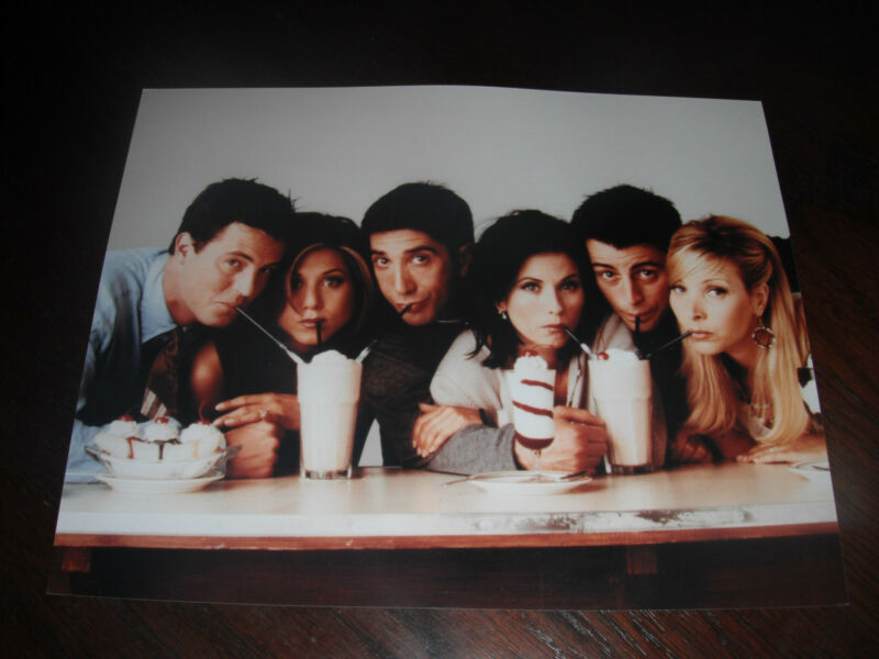 FRIENDS Cast Color 8x10 Promo Photo Picture Aniston Cox LeBlanc Schwimmer Kudro